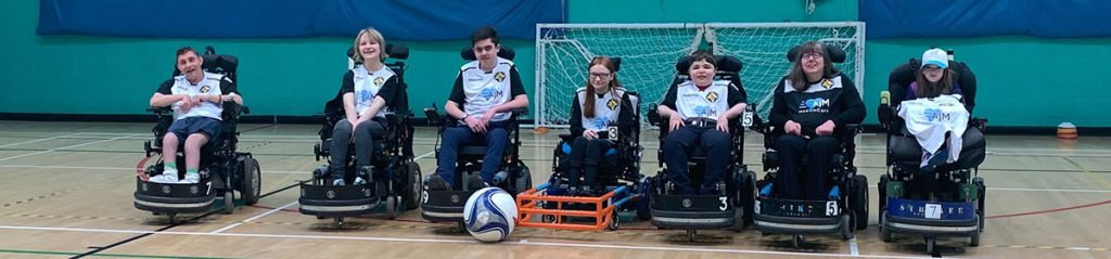 Cornwall Powerchair Football Club team lineup